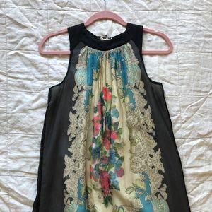 Anthropologie (Moulinette Soeurs) Silk Mini Dress